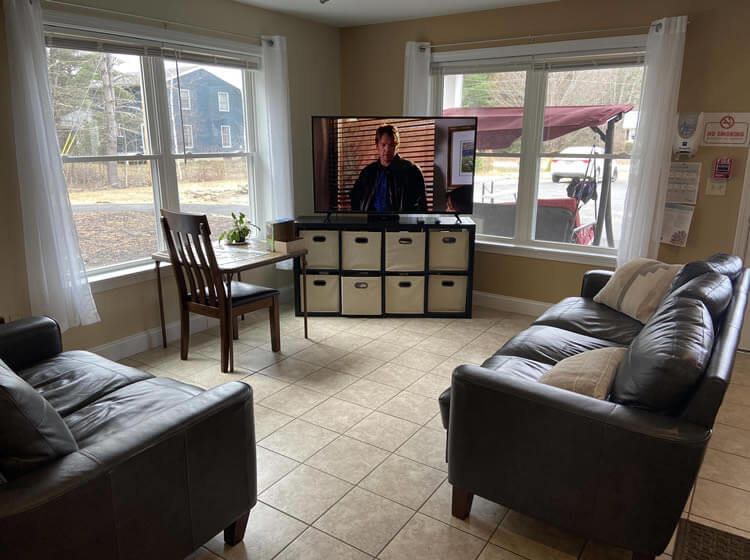 Living area of residential home.